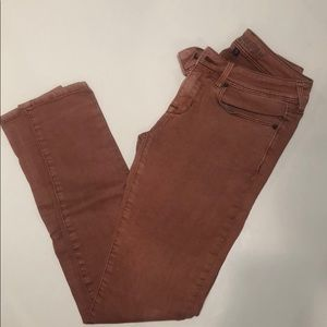 Brownish Red Jeggings